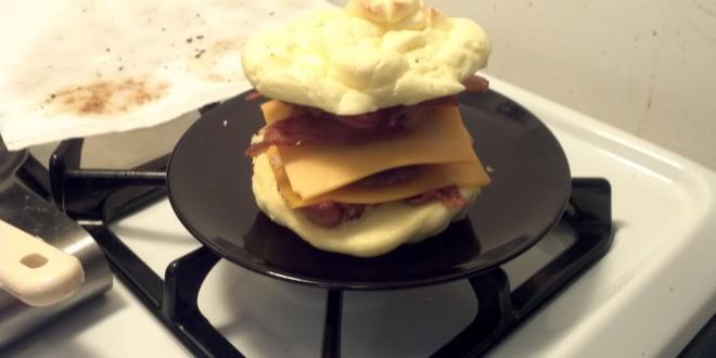Finished Oopsie Breakfast Sandwich