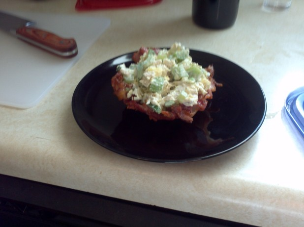 Bacon Weave Bowl with Chicken Salad