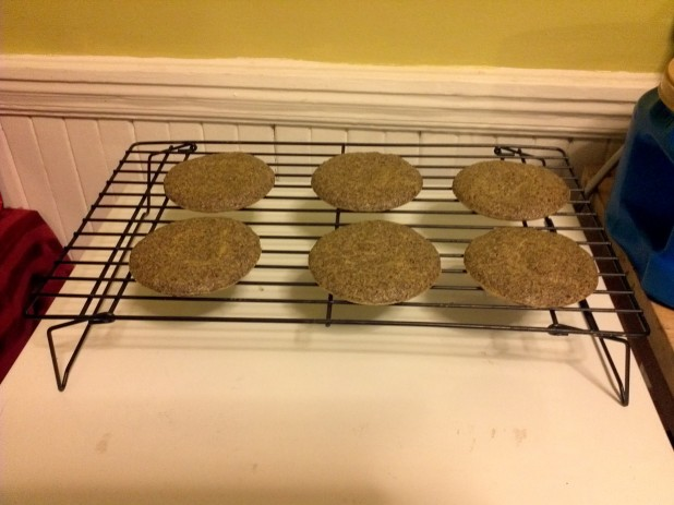 Flax Buns drying