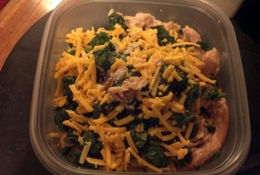 Chicken Thighs, Spinach and Cheese