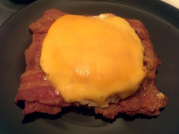 Bacon Weave Open Sandwich