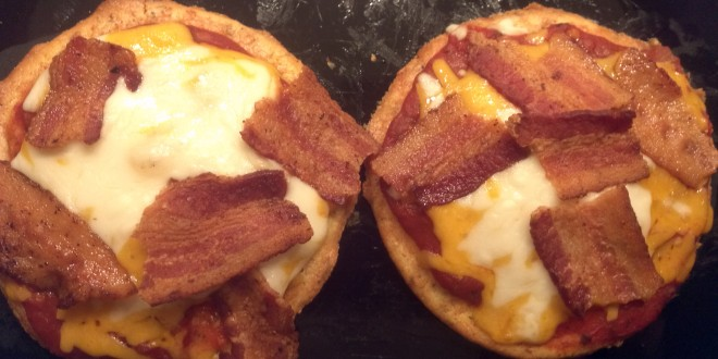 Finished Almond Bun Personal Pizzas