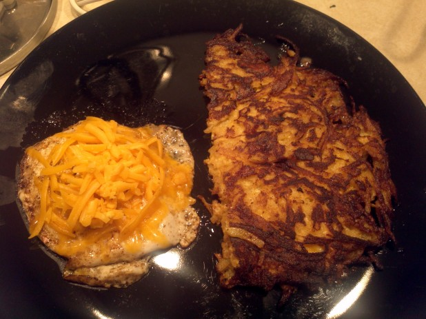 Finished Meal with Turnip Hash Browns