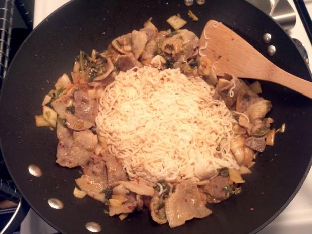 Shirataki Noodles in Wok