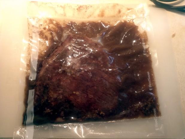 Finished Sous Vide Flank Steak
