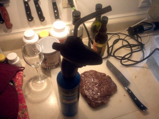 Blow Torch and Flank Steak