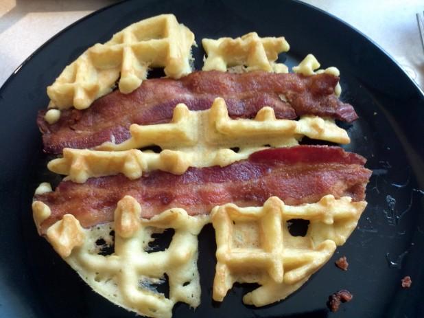 Finished Bacon Almond Waffle