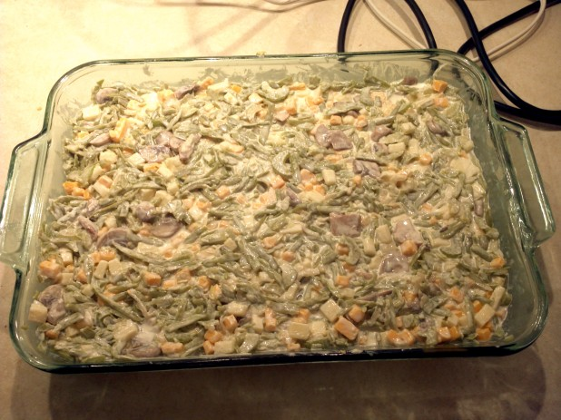 Prepped Cheesy Green Bean Casserole