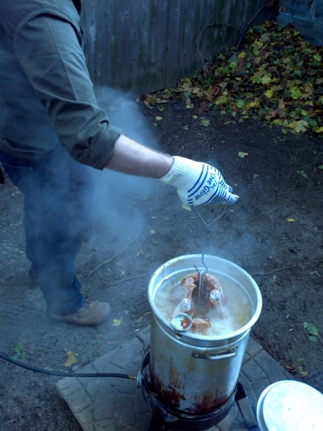 Turkey, enter the fryer!