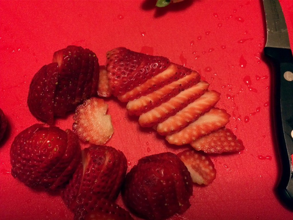 Sliced Strawberries