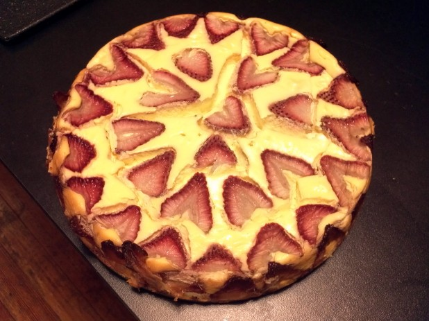 Finished Strawberry Cheesecake