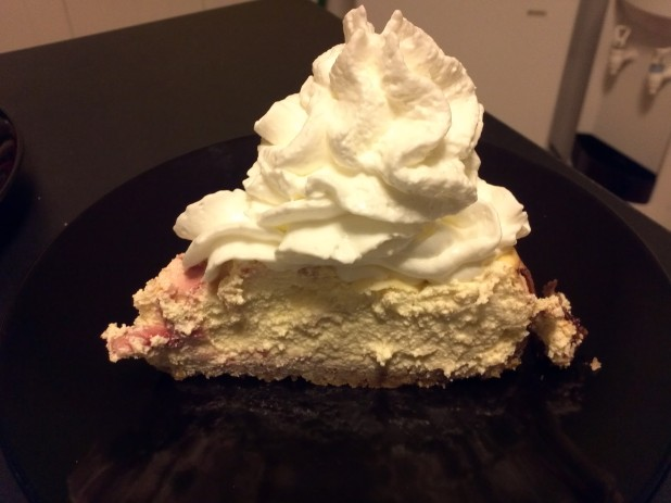 Finished Strawberry Cheesecake