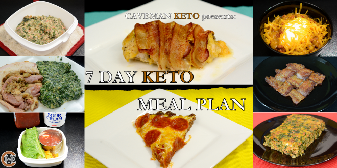 Caveman Keto's 7 Day Keto Meal Plan