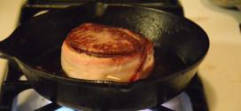 Searing the Filet Mignon