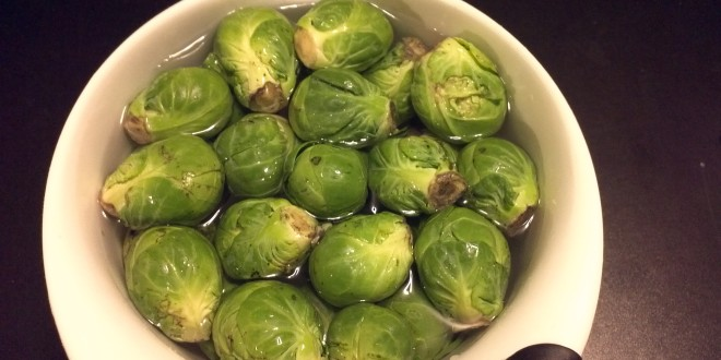 Wash Brussel Sprouts