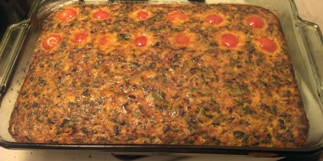 Finished Chorizo Breakfast Casserole
