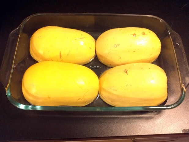 Spaghetti Squash ready for cooking