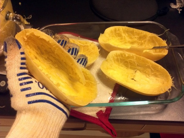 Shredding Spaghetti Squash