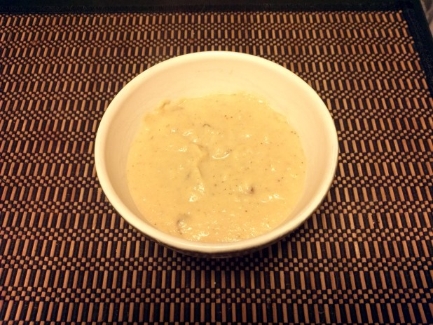 Finished Cheddar Cauliflower Soup