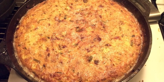 Finished Cast Iron Skillet Frittata