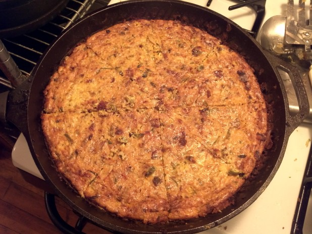 Sliced Cast Iron Skillet Frittata