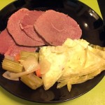 Finished Corned Beef and Cabbage