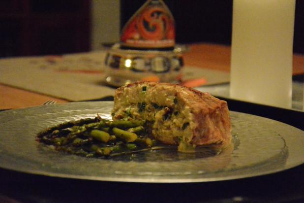 Finished Stuffed Pork Chops