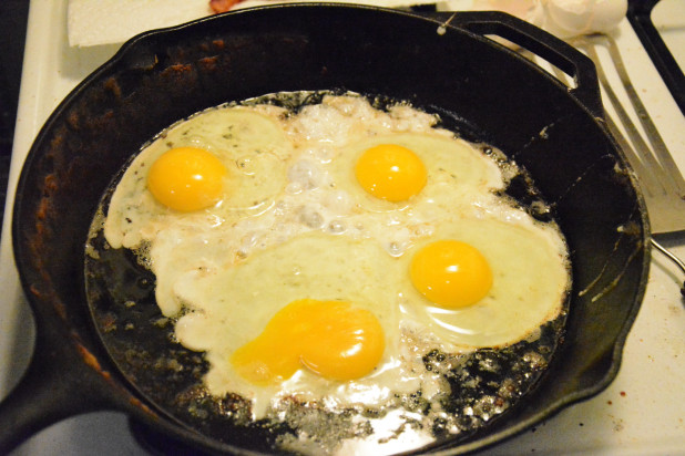 Eggs in the skillet