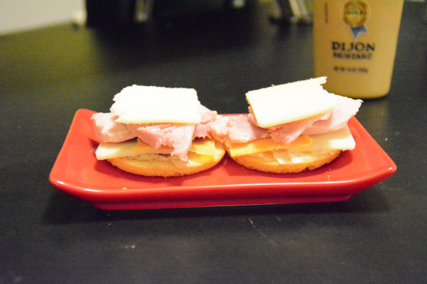 Ham Sandwich on Almond Bun Minis