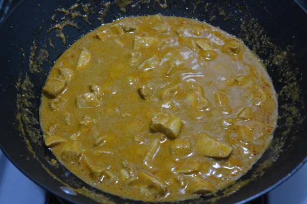 Finished Curry Chicken