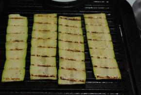 Grilling Zucchini Strips