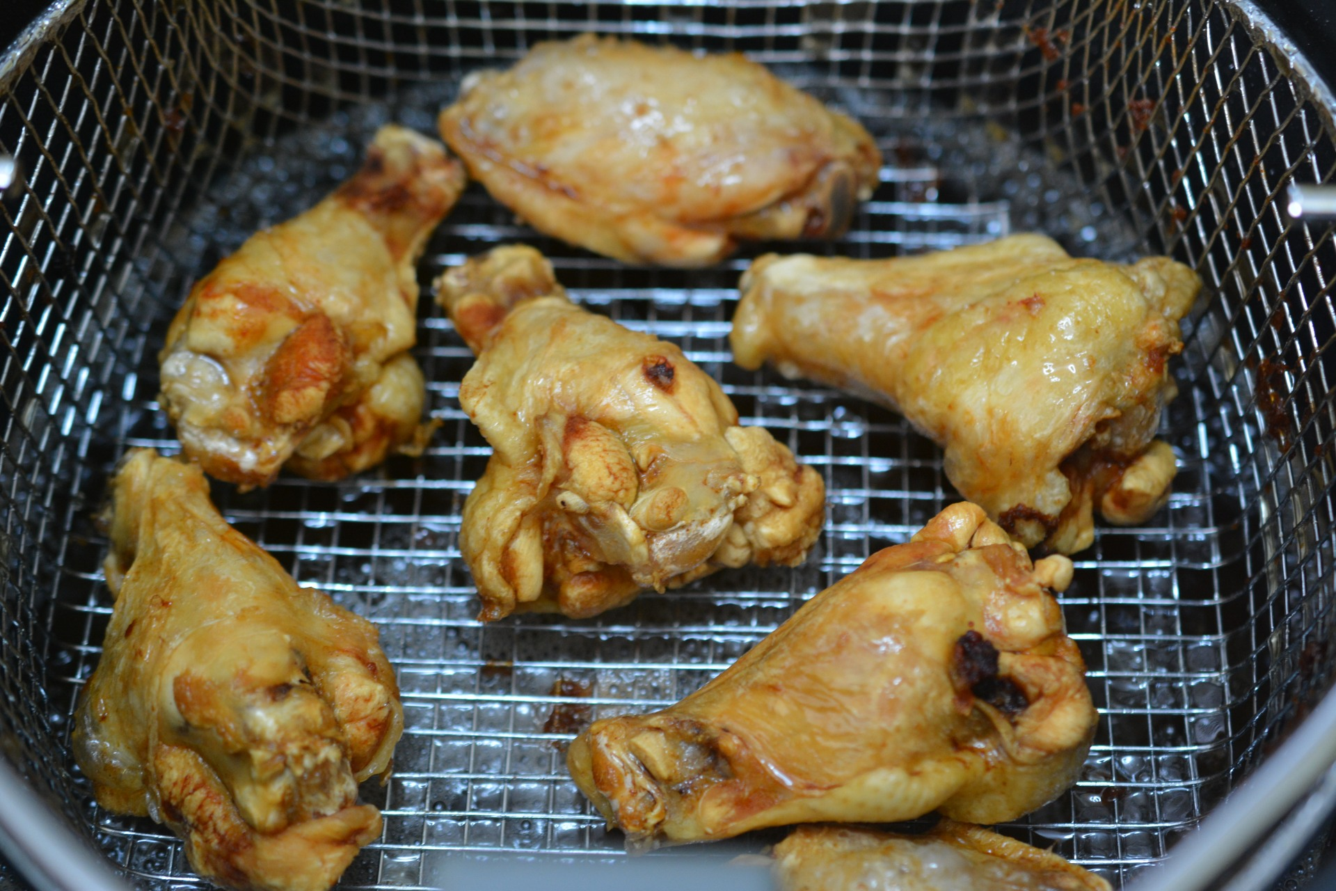 Deep frying frozen chicken wings recipe