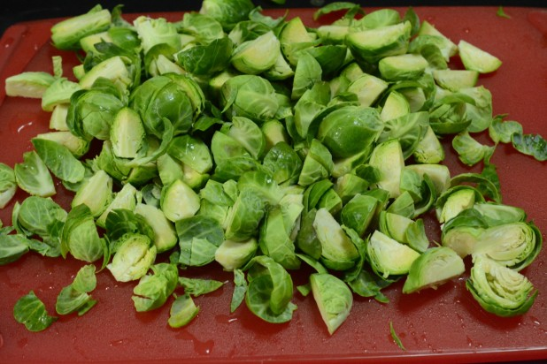 Quartered Brussels Sprouts