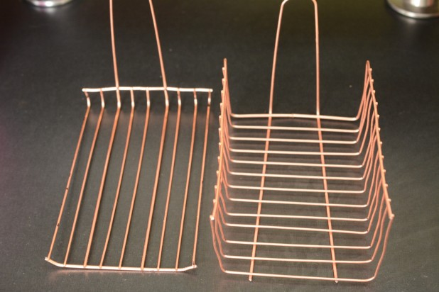 Two parts of Grill Basket