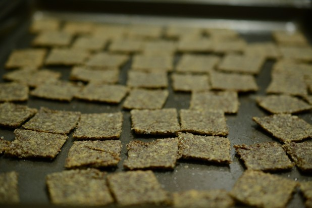 Finished Flax Crackers
