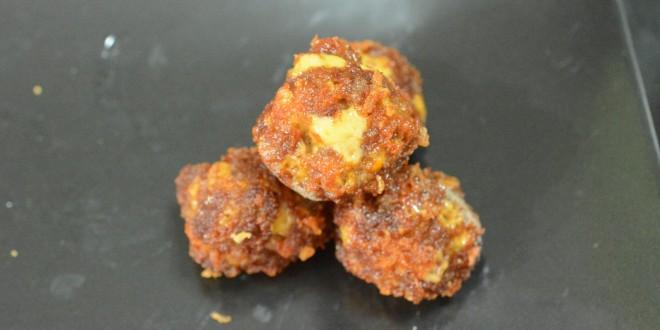 Fried Cheesy Sausage Balls