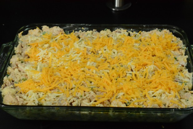 Casserole in Dish with Cheese