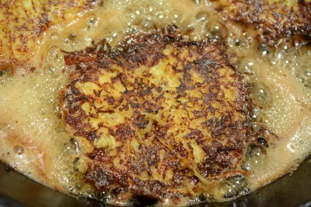 Frying Spaghetti Squash Pancake
