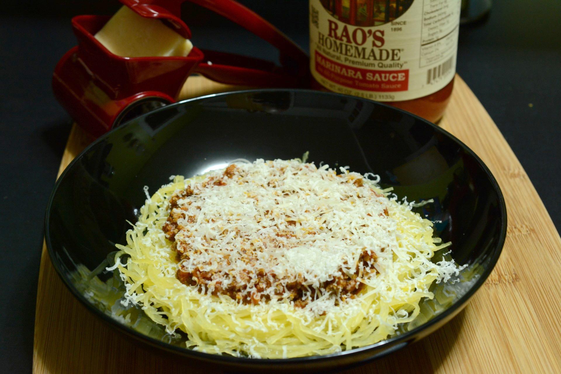 Spaghetti (Squash) with Meat Sauce - Caveman Keto