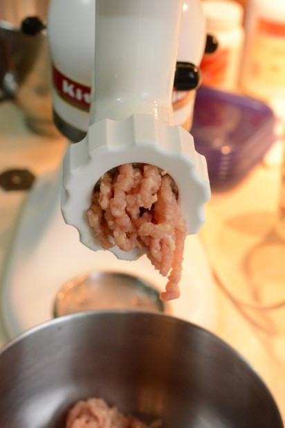 Grinding Chicken Thighs