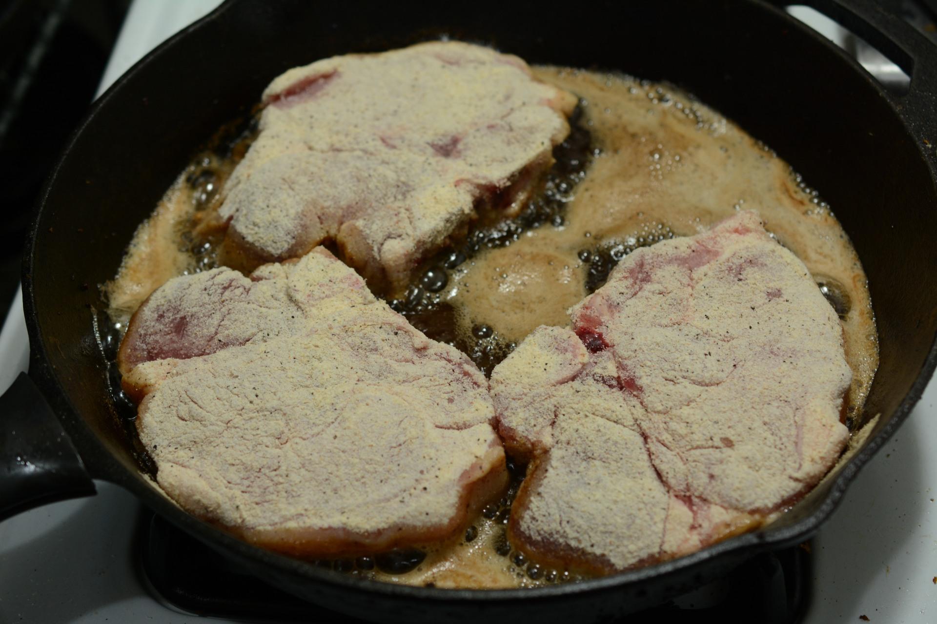 Pan Fried Pork Chops - Caveman Keto