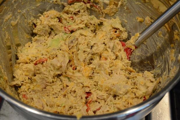 Chicken Avocado Casserole Mixed