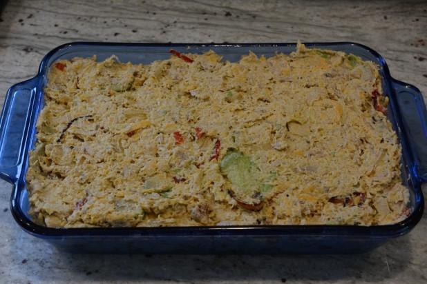 Chicken Avocado Casserole before Oven