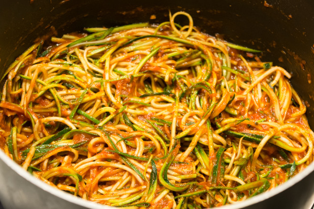 Zoodles with Sauce