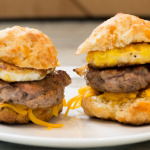 Cheddar Carbquik Biscuit Breakfast Sandwich