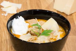 Crockpot Chorizo and Chicken Soup