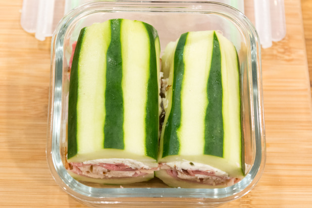 Cucumber Sandwich in Lunch Container