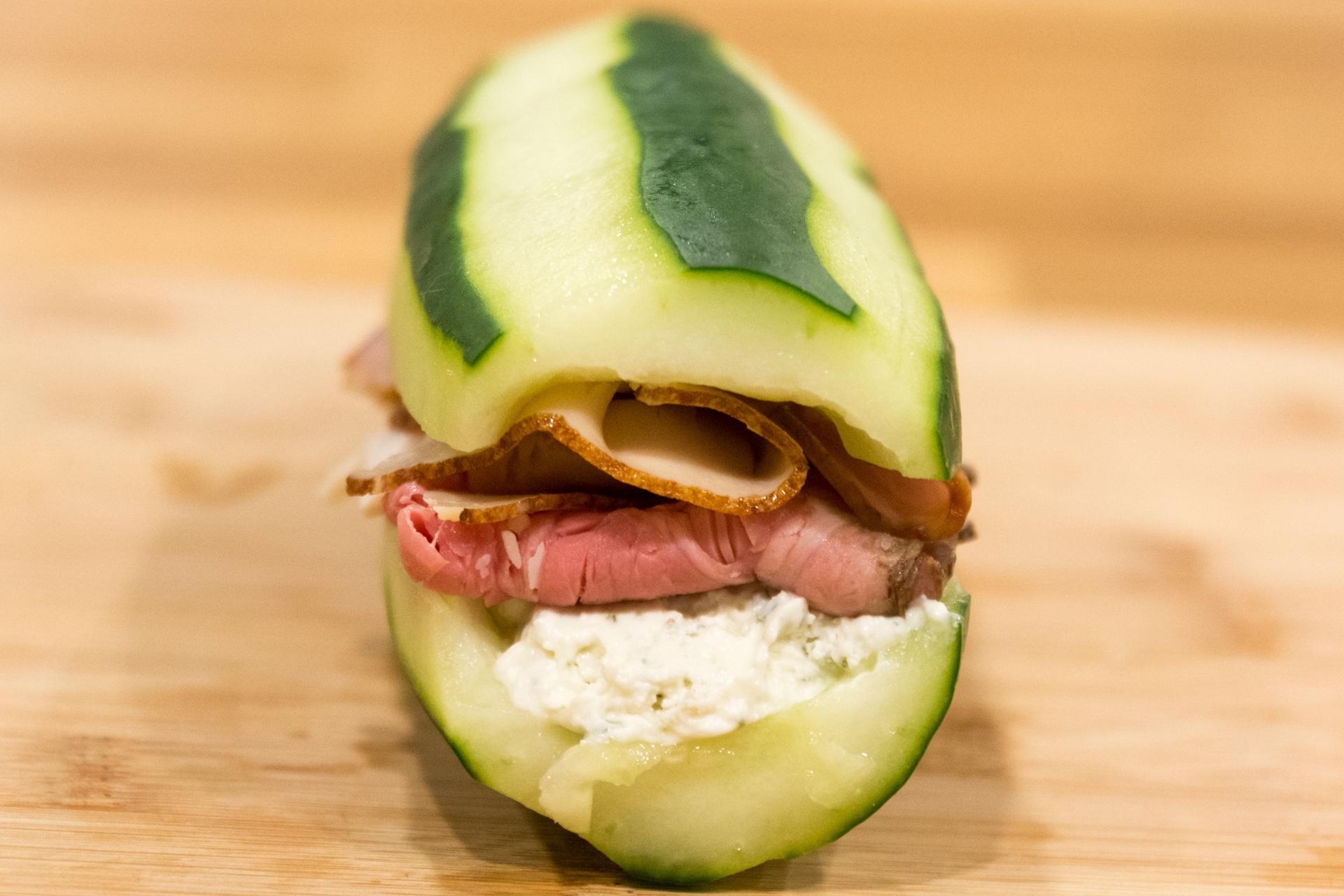 Cucumber Sandwich - Caveman Keto