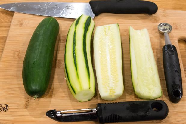 Preparing the Cucumber