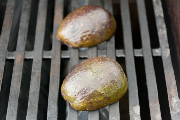 Finished Avocado on the Grill